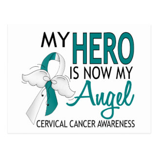 My Hero Is My Angel Cervical Cancer Postcard