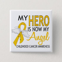 My Hero Is My Angel Childhood Cancer Pinback Button