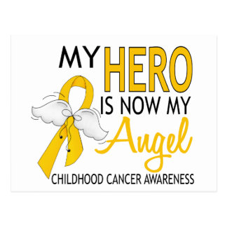 My Hero Is My Angel Childhood Cancer Postcard
