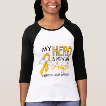 My Hero Is My Angel Childhood Cancer T-Shirt