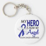 My Hero Is My Angel Colon Cancer Keychain