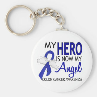 My Hero Is My Angel Colon Cancer Keychain