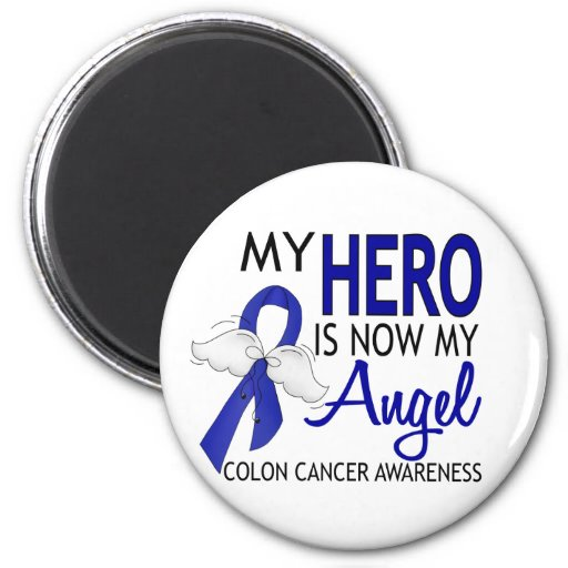 My Hero Is My Angel Colon Cancer Refrigerator Magnets