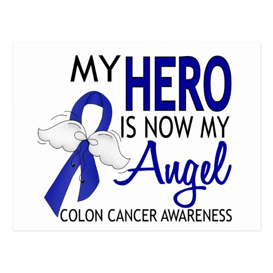 My Hero Is My Angel Colon Cancer Postcard