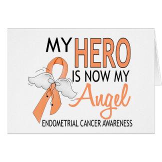 My Hero Is My Angel Endometrial Cancer Card