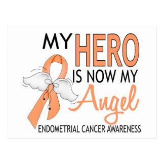 My Hero Is My Angel Endometrial Cancer Postcard