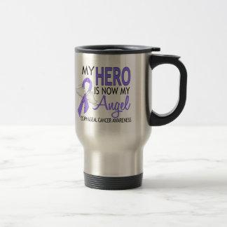My Hero Is My Angel Esophageal Cancer 15 Oz Stainless Steel Travel Mug