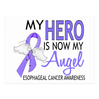 My Hero Is My Angel Esophageal Cancer Postcard