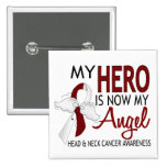 My Hero Is My Angel Head And Neck Cancer Button