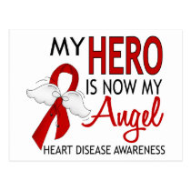 My Hero Is My Angel Heart Disease Postcard