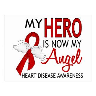 My Hero Is My Angel Heart Disease Postcard
