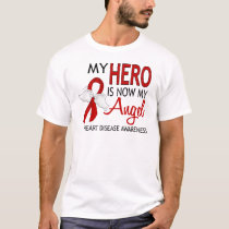 My Hero Is My Angel Heart Disease T-Shirt