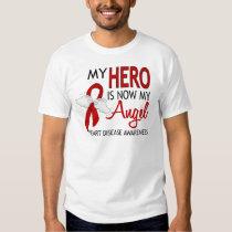 My Hero Is My Angel Heart Disease T Shirts