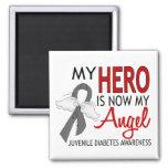 My Hero Is My Angel Juvenile Diabetes Refrigerator Magnets