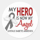 My Hero Is My Angel Juvenile Diabetes Round Sticker