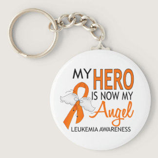 My Hero Is My Angel Leukemia Keychain