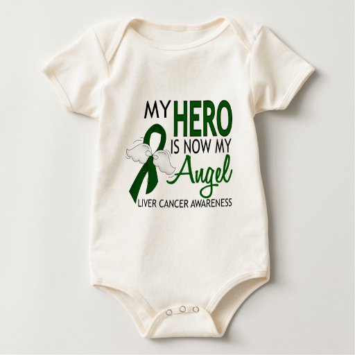 My Hero Is My Angel Liver Cancer Bodysuits