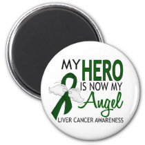 My Hero Is My Angel Liver Cancer Magnet