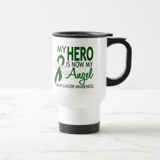 My Hero Is My Angel Liver Cancer 15 Oz Stainless Steel Travel Mug