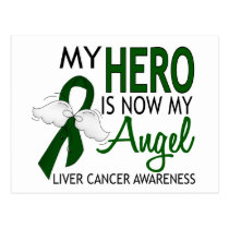 My Hero Is My Angel Liver Cancer Postcard