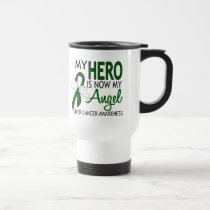 My Hero Is My Angel Liver Cancer Travel Mug