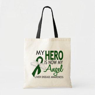 My Hero Is My Angel Liver Disease Budget Tote Bag