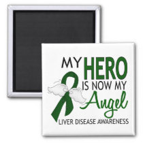 My Hero Is My Angel Liver Disease Magnet