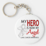 My Hero Is My Angel Lung Cancer Keychains