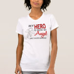 My Hero Is My Angel Lung Cancer Tee Shirts