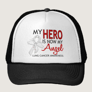 My Hero Is My Angel Lung Cancer Trucker Hat