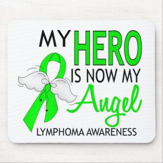 My Hero Is My Angel Lymphoma Mouse Pad