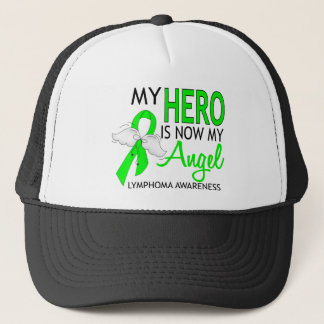 My Hero Is My Angel Lymphoma Trucker Hat