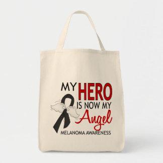 My Hero Is My Angel Melanoma Grocery Tote Bag