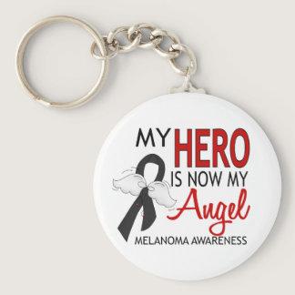 My Hero Is My Angel Melanoma Keychain