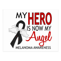 My Hero Is My Angel Melanoma Postcard