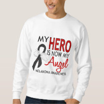 My Hero Is My Angel Melanoma Sweatshirt