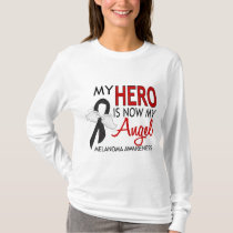 My Hero Is My Angel Melanoma T-Shirt