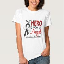 My Hero Is My Angel Melanoma Tee Shirt