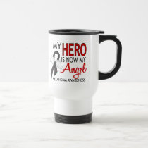 My Hero Is My Angel Melanoma Travel Mug