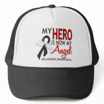 My Hero Is My Angel Melanoma Trucker Hat