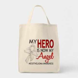 My Hero Is My Angel Mesothelioma Canvas Bags
