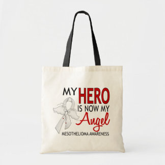 My Hero Is My Angel Mesothelioma Budget Tote Bag