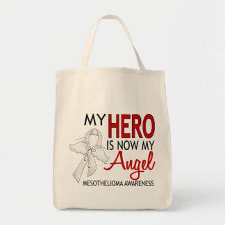 My Hero Is My Angel Mesothelioma Grocery Tote Bag