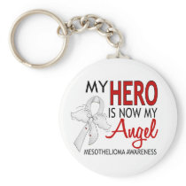 My Hero Is My Angel Mesothelioma Keychain