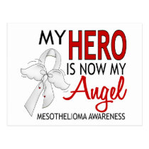 My Hero Is My Angel Mesothelioma Postcard