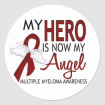 My Hero Is My Angel Multiple Myeloma Classic Round Sticker