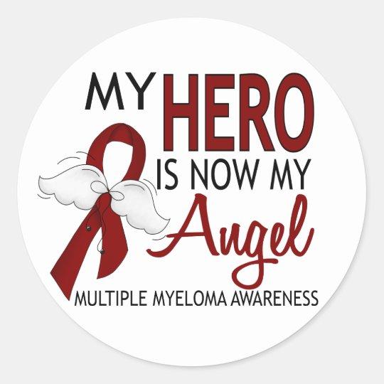 My Hero Is My Angel Multiple Myeloma Classic Round Sticker