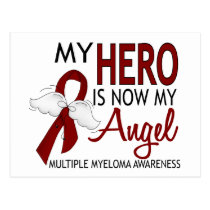 My Hero Is My Angel Multiple Myeloma Postcard