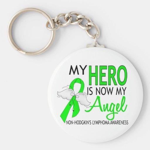 My Hero Is My Angel Non-Hodgkin's Lymphoma Key Chain