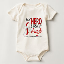 My Hero Is My Angel Oral Cancer Baby Bodysuit